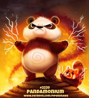 Daily Paint 2239. Pandamonium