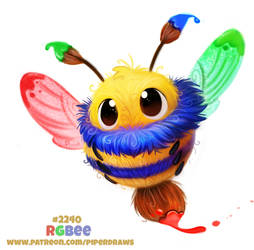 Daily Paint 2240. RGBee by Cryptid-Creations