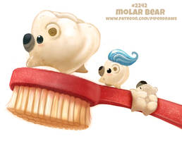 Daily Paint 2242. Molar Bear by Cryptid-Creations