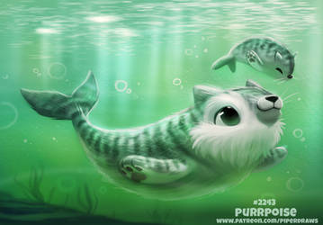 Daily Paint 2243. Purrpoise by Cryptid-Creations