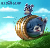 Daily Paint 2245. Do a Bearrel Roll!