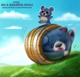 Daily Paint 2245. Do a Bearrel Roll! by Cryptid-Creations