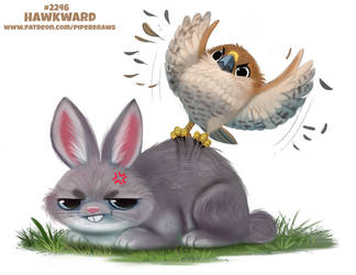 Daily Paint 2246. Hawkward by Cryptid-Creations