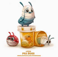 Daily Paint 2256. Pill Bugs