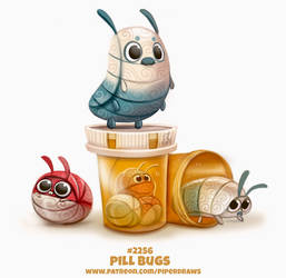 Daily Paint 2256. Pill Bugs by Cryptid-Creations