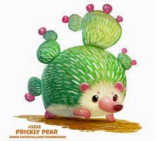 Daily Paint 2258. Prickly Pear