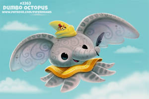 Daily Paint 2263. Dumbo Octopus