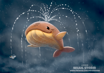 Daily Paint 2265. Whail Storm by Cryptid-Creations