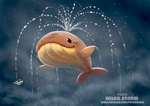 Daily Paint 2265. Whail Storm