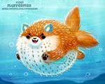Daily Paint 2267. Flufferfish