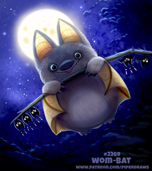 Daily Paint 2269. Wom-bat by Cryptid-Creations