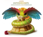 Daily Paint 2270. Cutesiecoatl by Cryptid-Creations