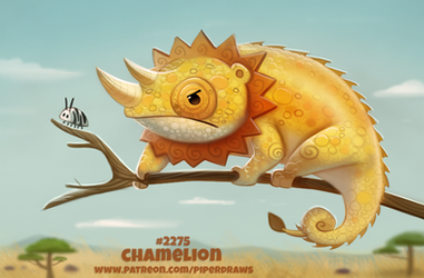 Daily Paint 2275. Chamelion by Cryptid-Creations