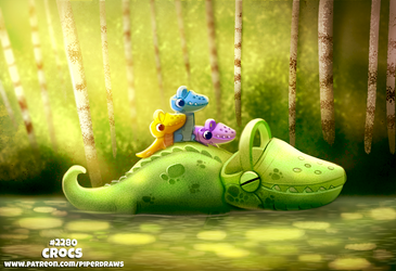 Daily Paint 2280. Crocs by Cryptid-Creations