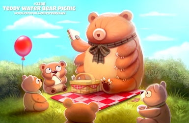 Daily Paint 2288. Teddy Water Bear Picnic by Cryptid-Creations