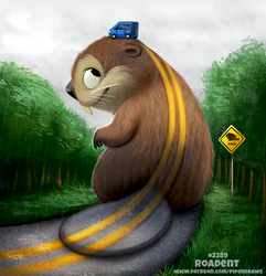 Daily Paint 2289. Roadent