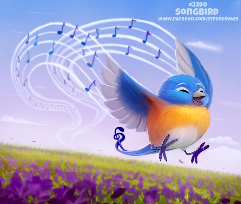 Daily Paint 2290. Songbird