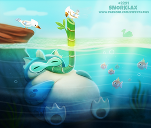 Daily Paint 2291. Snorklax by Cryptid-Creations