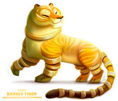Daily Paint 2292. Bangle Tiger by Cryptid-Creations