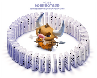 Daily Paint 2295. Dominotaur by Cryptid-Creations