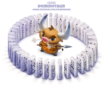 Daily Paint 2295. Dominotaur