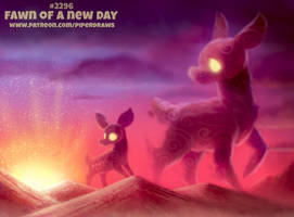 Daily Paint 2296. Fawn of a New Day by Cryptid-Creations
