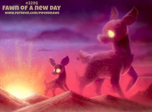 Daily Paint 2296. Fawn of a New Day