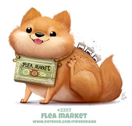 Daily Paint 2297. Flea Market by Cryptid-Creations