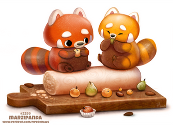 Daily Paint 2299. Marzipanda by Cryptid-Creations