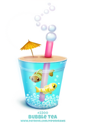 Daily Paint 2300. Bubble Tea by Cryptid-Creations