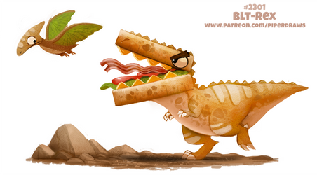 Daily Paint 2301. BLT-Rex by Cryptid-Creations
