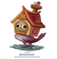 Daily Paint 2302. Birdhouse