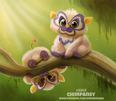 Daily Paint 2303. Chimpansy by Cryptid-Creations