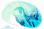 Daily Paint 2304. Seabra by Cryptid-Creations
