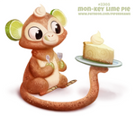 Daily Paint 2305. Mon-Key Lime Pie
