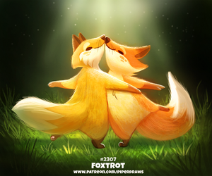 Daily Paint 2307. Foxtrot by Cryptid-Creations