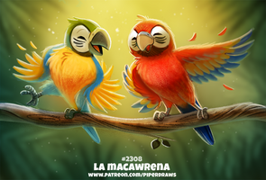 Daily Paint 2308. La Macawrena by Cryptid-Creations
