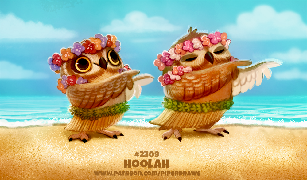Daily Paint 2309. Hoola by Cryptid-Creations