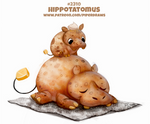 Daily Paint 2310. Hippotatomus by Cryptid-Creations