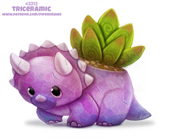 Daily Paint 2312. Triceramic by Cryptid-Creations