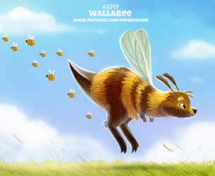 Daily Paint 2313. Wallabee by Cryptid-Creations