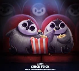 Daily Paint 2314. Chick Flick by Cryptid-Creations