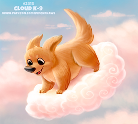 Daily Paint 2315. Cloud K-9 by Cryptid-Creations