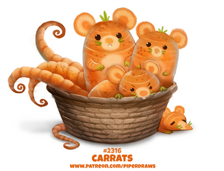 Daily Paint 2316. Carrats by Cryptid-Creations