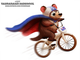 Daily Paint 2317. Tasmanian Daredevil by Cryptid-Creations