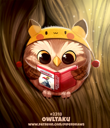 Daily Paint 2318. Owltaku by Cryptid-Creations