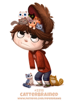 Daily Paint 2319. Catterbrained