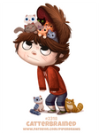 Daily Paint 2319. Catterbrained by Cryptid-Creations