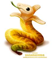 Daily Paint 2320. Bananaconda