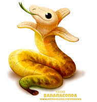 Daily Paint 2320. Bananaconda